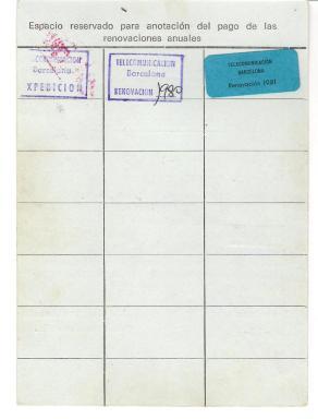 Document històric: Targeta d'escolta