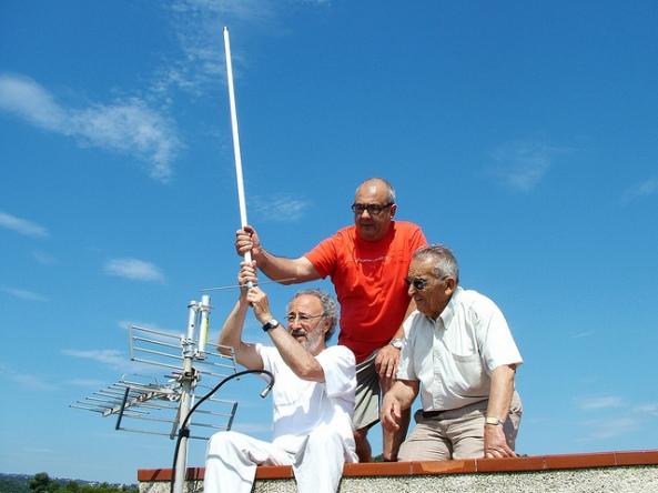 Nova antena de l'estació EA3ZW