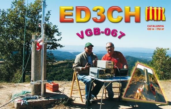ED3CH (Vèrtex Geodèsic Puig de la Caritat, L'Estany) - 9 d'octubre de 2011