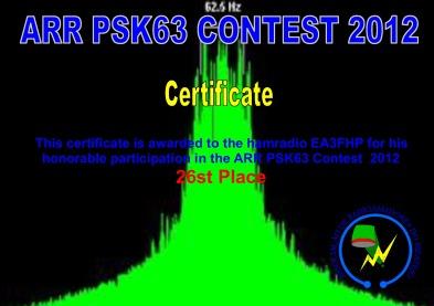 ARR PSK63 Contest 2012