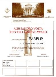 EA3FHP (Alessandro Volta RTTY Contest 2009)