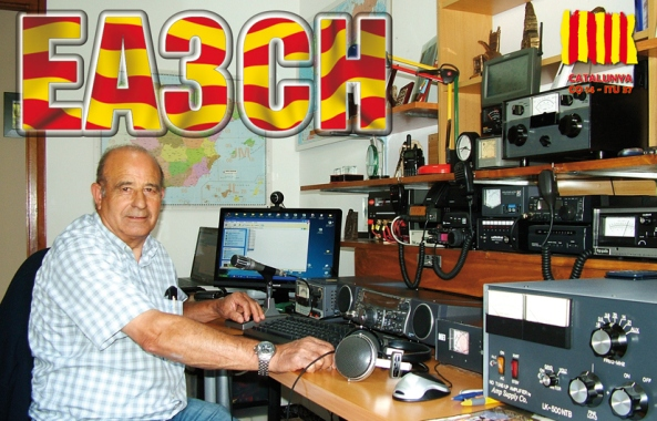 Targeta QSL de l'estació EA3CH