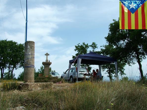 EB3CNV i EA3RP operant des del Puig de la Caritat, L'Estany (Bages)