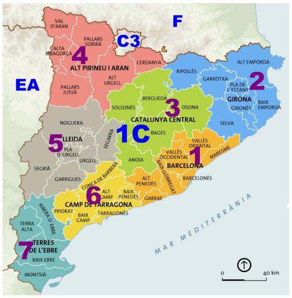 Mapa prefixos Catalunya