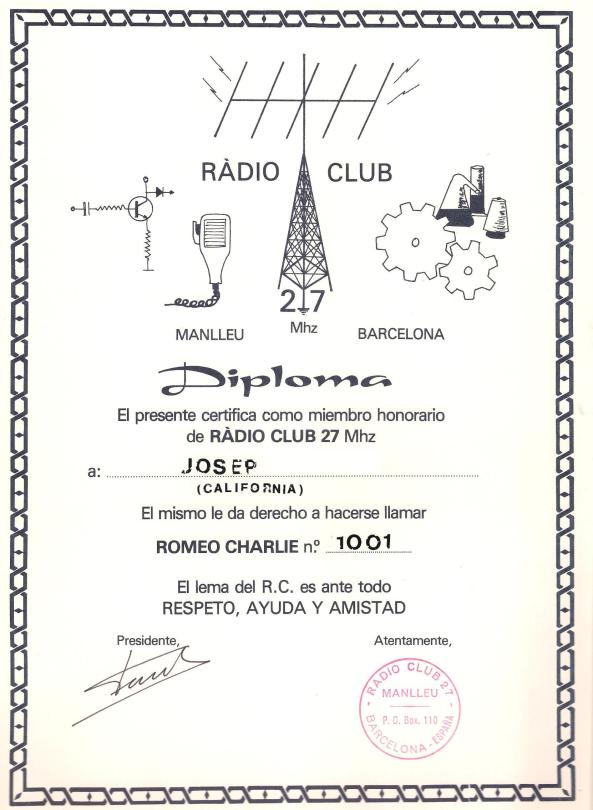 Ràdio Club 27 Mhz.