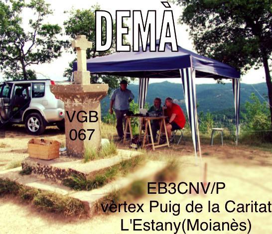 Anunci EB3CNV (Puig de la Caritat)