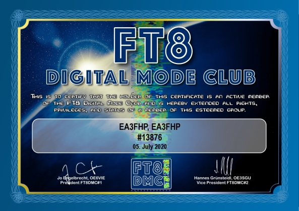 EA3FHP – Member FT8DMC #13876