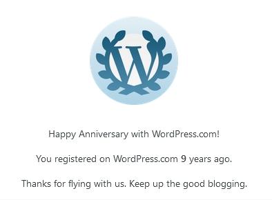 Anniversary with WordPress.com (2011-2020)