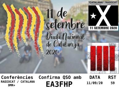 Targeta EA3FHP (Diada Nacional de Catalunya 2020)