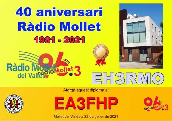 EH3RMO (40è aniversari de Ràdio Mollet)