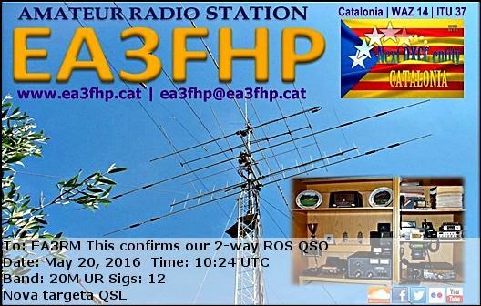 Targeta QSL electrònica de l'estació EA3FHP
