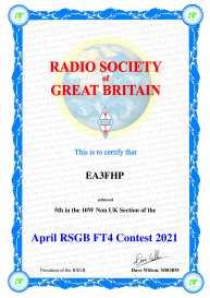 RSGB FT4 Contest (Abril)