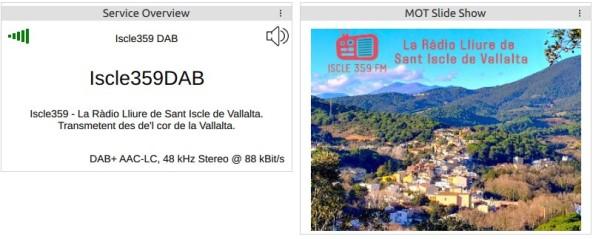 Recepció d'Iscle359FM en DAB+